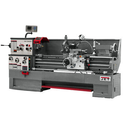 JET GH-1860ZX Large Spindle Bore Lathe With Newall DP700 Taper & Collet Closer