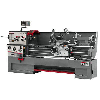 JET GH-1660ZX Large Spindle Bore Lathe With Newall DP700 DRO & Taper Attachment