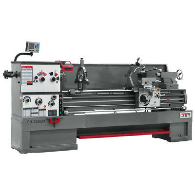 JET GH-2680ZH 4-1/8 Spindle Bore Geared Head Lathe With Newall DP700 DRO
