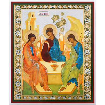 Russian Orthodox Holy Trinity Icon Old Testament Trinity Rublev 5 1/4 Inch