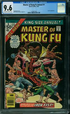 Master Of Kung Fu Annual 1 Cgc 9.6 Oww  Shang Chi Teams Up With Iron Fist Nice