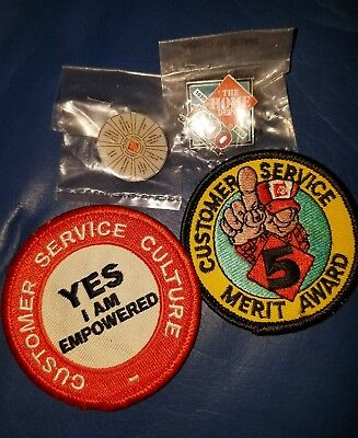 PATCH Badge  HOME DEPOT  Customer Service culture and MERIT AWARD 5... 2 lapel