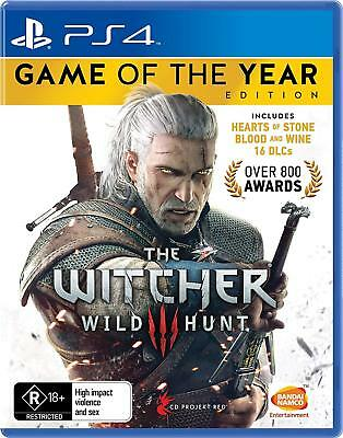 The Witcher 3 Game Of the Year Edition - Playstation 4 (PS4) Game Brand New Seal