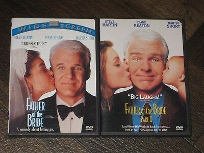 Father Of The Bride Dvds Part 1 & 2 Steve Martin Out Of Print Watched Once!!