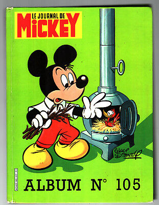 ALBUM LE JOURNAL DE MICKEY n°105 ¤ avec n°1614 à 1623 ¤ 1983 SUPPLEMENT INCLUS