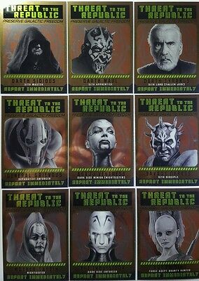 STAR WARS PERSPECTIVES 2015 Jedi Vs Sith CARD SUBSET  Sith Fugatives  set of 10