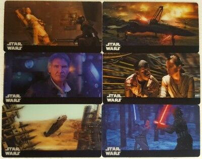 The FORCE AWAKENS 3D WIDEVISION Trading Card Set of 44 topps online exclusive