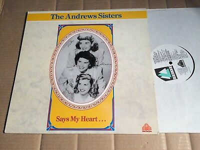 The Andrews Sisters - Says My Heart ... - Lp - Chd 161 - Uk 1989