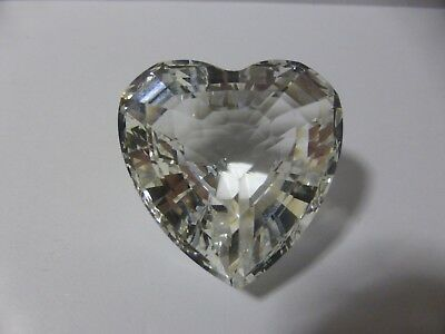 Swarovski Silver Crystal Scs Clear Heart 1996 Limited Edition