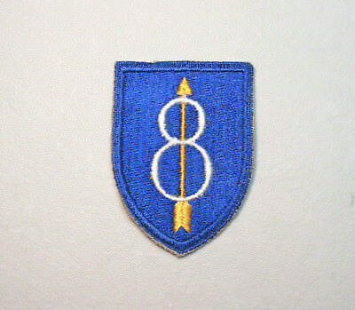 Ww2 U.s Army 8Th Infantry Division Military Patch  (No Glow)