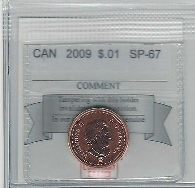 **2009**, Coin Mart Graded Canadian, Small One Cent, **SP-67**