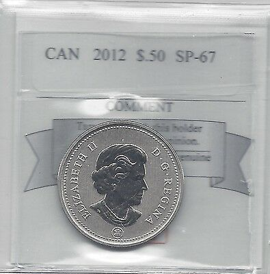 **2012**, Coin Mart Graded Canadian 50 Cent, **SP-67**