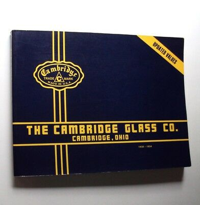 CAMBRIDGE GLASS CO Catalog 1930-1934 Reprint Collector Guide Prices Glassware