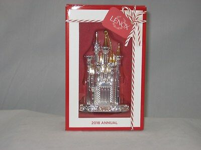 Lenox 2018 Disney Castle Ornament NIB 877854