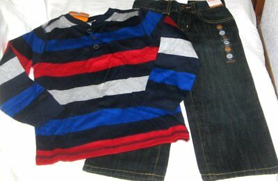 NWT Boys 4T GYMBOREE 2 Pc Outfit Set Jeans and Long Sleeve Top NEW