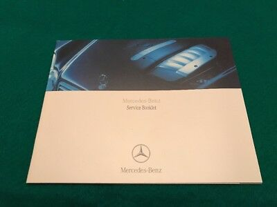 Mercedes-Benz Service Book Owners Manual Totally Blank No Details Inside