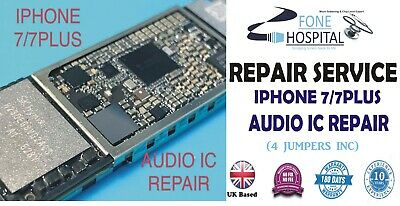 iPhone 7 No Audio Sound IC Loudspeaker Mic Slow Boot Repair wid special delivery