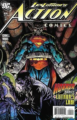 Superman Action Comics issue 891 Modern Age First Print 2010 Cornell Woods Cafu