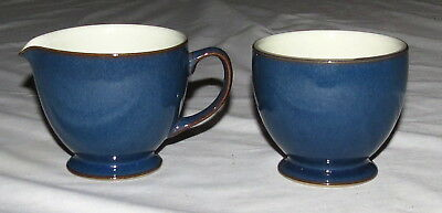 Denby Boston Creamer and Sugar - made in England - Excellent