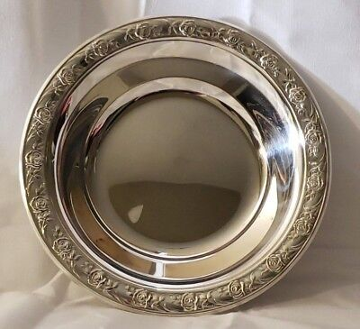 Vintage Reed Barton With Classic Rose Design Candynut Dish