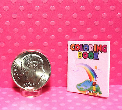 Dollhouse Miniature Coloring Book for Girls