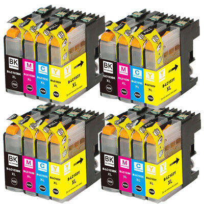16 Non-Oem Ink Brother Lc-103 Xl Lc101 Mfc-J4610Dw Mfc-J470Dw Mfc-J4710Dw J475Dw