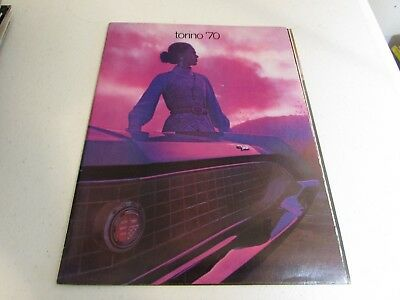 Vintage Car Automobile Sales Auto Brochure 1970 Ford Torino Line Up