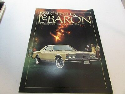 Vintage Car Automobile Sales Brochure  1979 Chrysler LeBaron