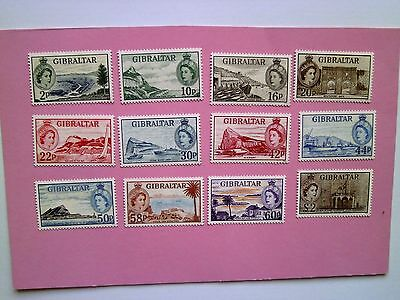 GIBRALTAR: 2013 60th Anniv of First Queen Elizabeth stamps 12values Sg1516/27