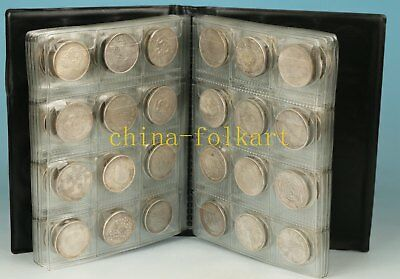Rare 120 Piece Qing Dynasty Iron Plating Silver Old Coin Statue Art