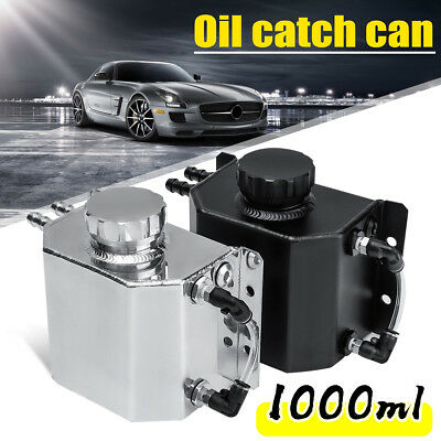 1L Universal Aluminium Oil Catch Can Breather Tank Reservoir Drain Plug CD34223
