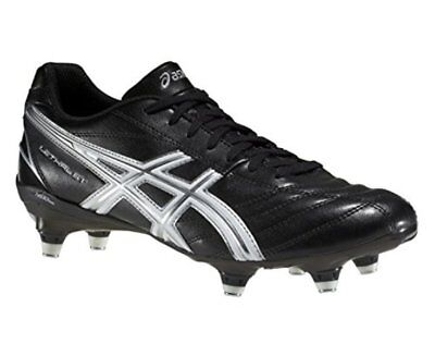 Asics Lethal ST SG Black White Silver Rugby Boots Size UK 10