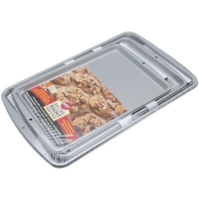 Rr Cookie Pan Set - Wilton 3 Recipe Right Pans Industries Nonstick 3pc Sheet