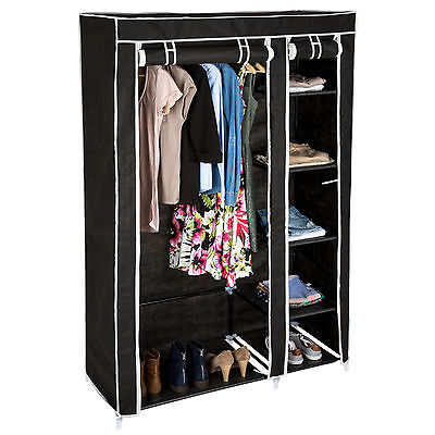 vicco kleiderschrank offen begehbar regal kleiderst nder schrank wei garderobe eur 61 90. Black Bedroom Furniture Sets. Home Design Ideas