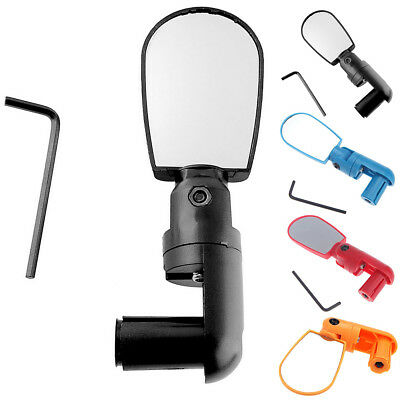 Cycling Bike Bicycle Rotate Rear View Mirror Handlebar Flexible Safety Rearview