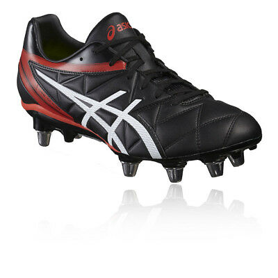 Asics Lethal Scrum SG Black White Vermilion Rugby Boots Size UK 8 9 10 11 12 13