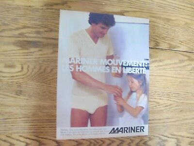 Vintage 1978, Mariner Men Underwear Print Ad Clipping