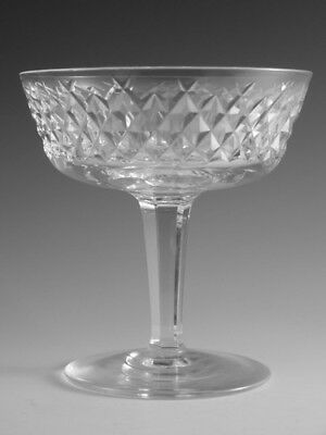 """WATERFORD Crystal - ALANA Cut - Champagne Saucer Glass / Glasses - 4 1/4"""""""