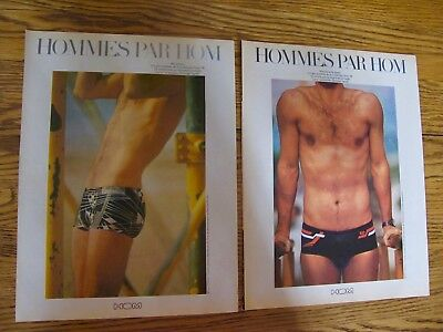 Vintage 1978, Hom Men Swimsuit Print Ads Clippings 2P.