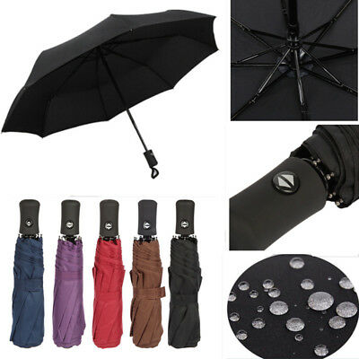 Automatic Umbrella Anti-UV Sun Rain Umbrella Windproof Teflon Folding Compact XL