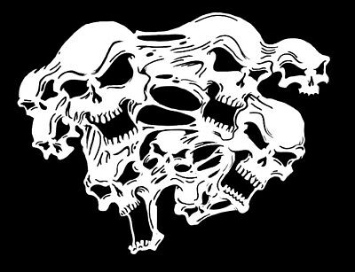 high detail airbrush stencil  ghost skulls 2 FREE UK POSTAGE