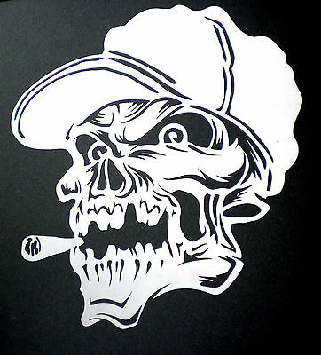 high detail airbrush stencil spliff skull FREE UK POSTAGE