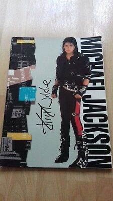Tour Programme  Michael Jackson Bad (Signed by Kim Wilde)