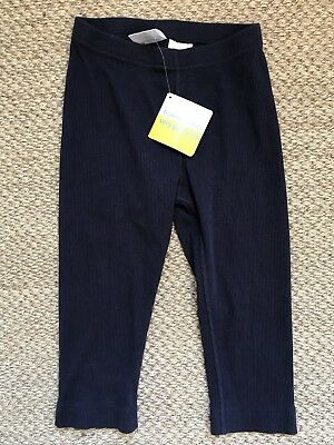 NWT HANNA ANDERSSON COTTON RIB CAPRIS LEGGINGS Navy  BLUE 120 6 7