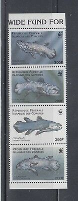 Comoros 1998 WWF Coelacanth Fish  Sc 833 Complete Mint Never Hinged