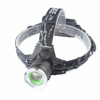 30000LM XML XM-L T6 LED Zoomable Headlamp Headlight Head Torch Light 18650