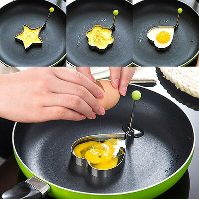 New Practical Stainless Steel Egg Frying Mould Pancake Fried Mold Cooking Tool