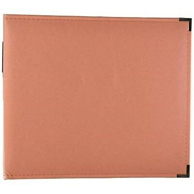 Leather 3ring Albm12 Coral - Classic Dring Album x American Crafts Memory