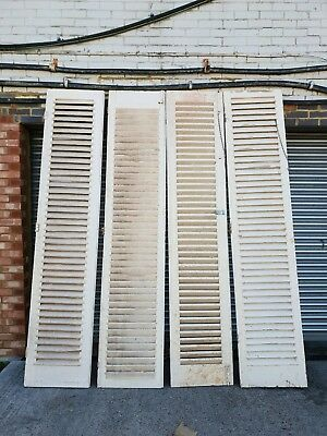 Antique/vintage French louvre shutters x 4