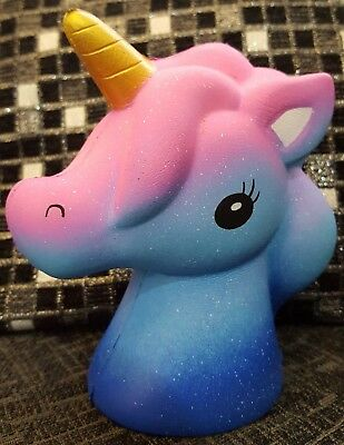 Squishy Blue Pink Unicorn Scented Slow Rising Squeeze Boys Girls Toys UK 13cm